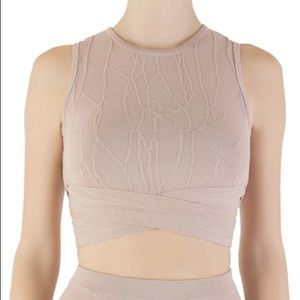 Jonathan Simkhai Blush Pink Sleeveless Crop Top